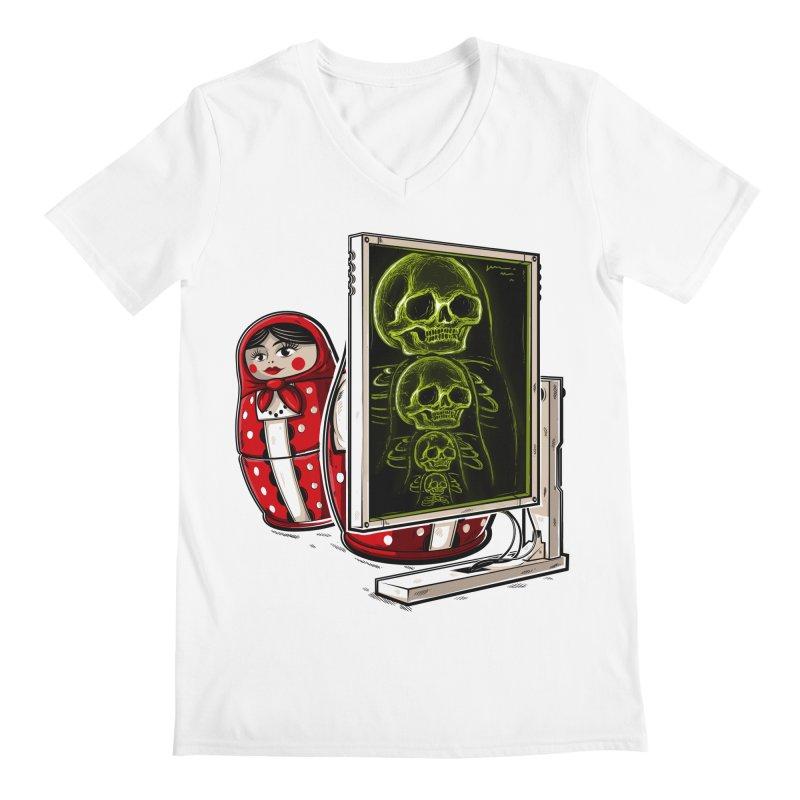 Matryoshka X-ray Men's V-Neck by Rax's Artist Shop