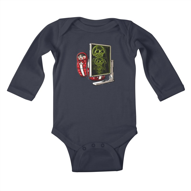Matryoshka X-ray Kids Baby Longsleeve Bodysuit by Rax's Artist Shop