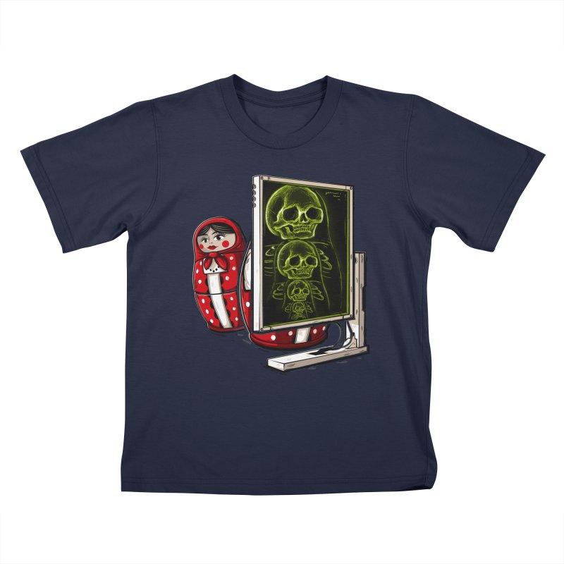 Matryoshka X-ray Kids T-Shirt by Rax's Artist Shop