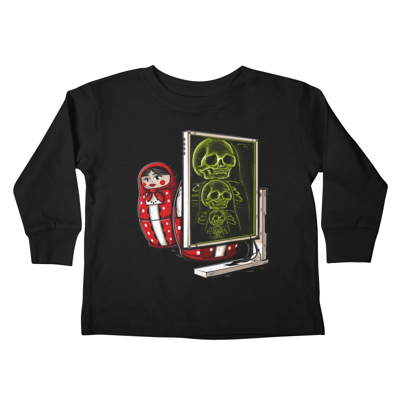 Matryoshka X-ray Kids Toddler Longsleeve T-Shirt by Rax's Artist Shop