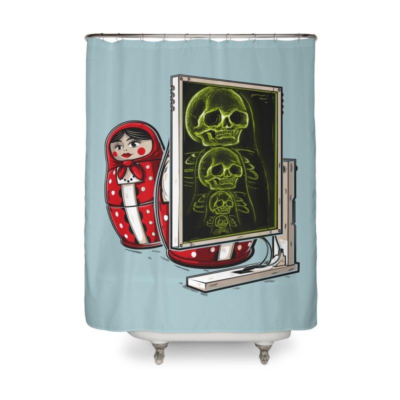 Matryoshka X-ray Home Shower Curtain by Rax's Artist Shop