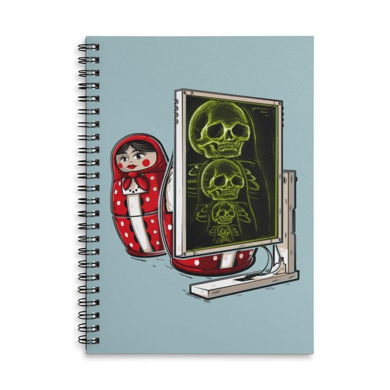 Matryoshka X-ray Accessories Notebook by Rax's Artist Shop