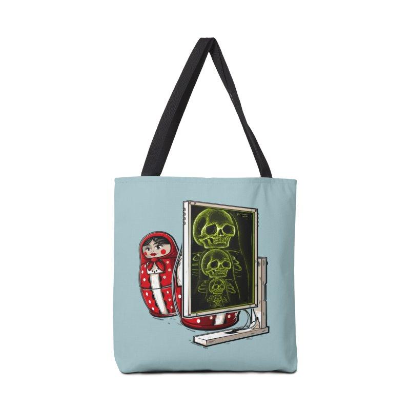 Matryoshka X-ray Accessories Bag by Rax's Artist Shop