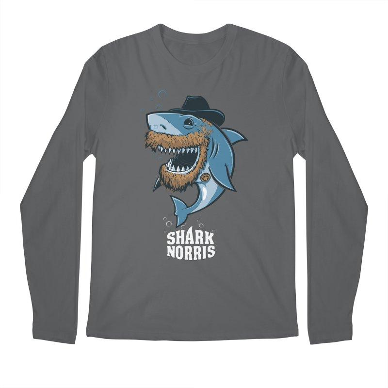 Shark Norris Men's Longsleeve T-Shirt by Rax's Artist Shop