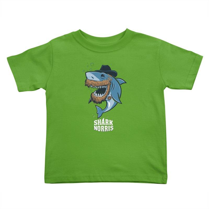 Shark Norris Kids Toddler T-Shirt by Rax's Artist Shop