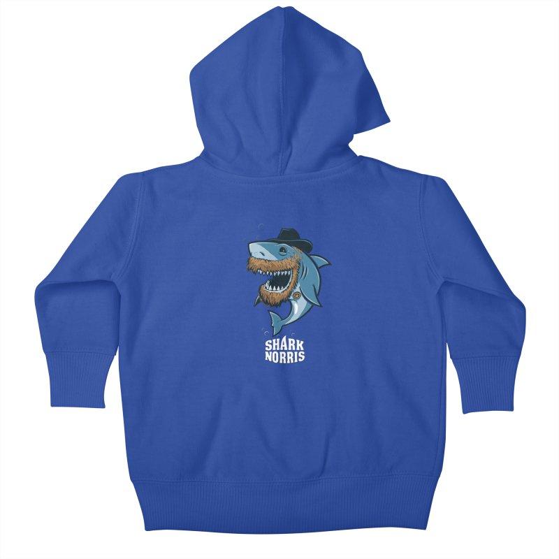 Shark Norris Kids Baby Zip-Up Hoody by Rax's Artist Shop