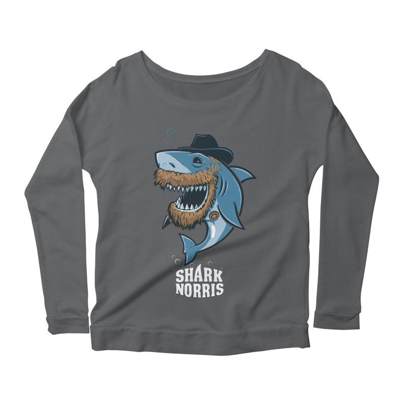 Shark Norris Women's Longsleeve T-Shirt by Rax's Artist Shop