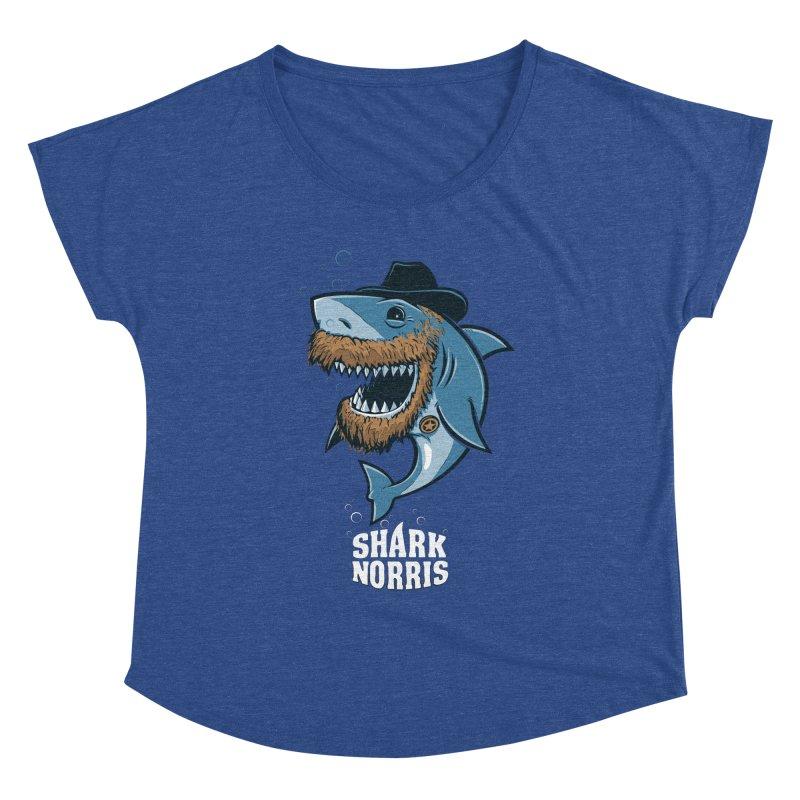 Shark Norris Women's Scoop Neck by Rax's Artist Shop