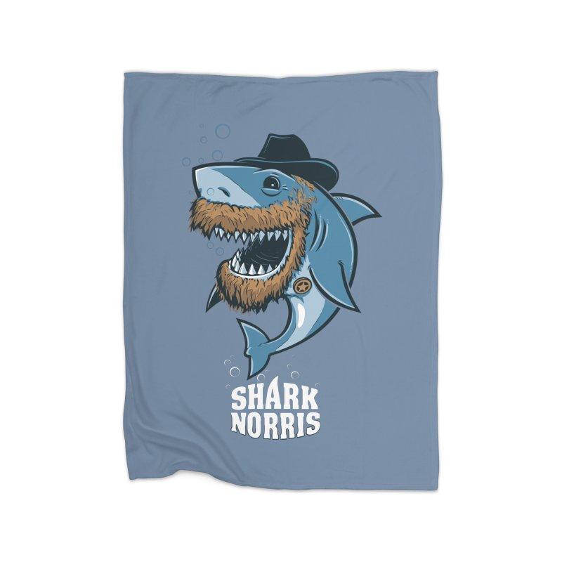 Shark Norris Home Blanket by Rax's Artist Shop