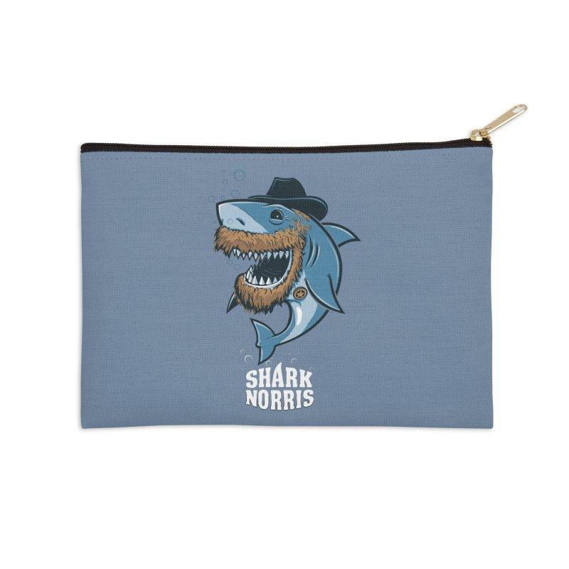 Shark Norris Accessories Zip Pouch by Rax's Artist Shop