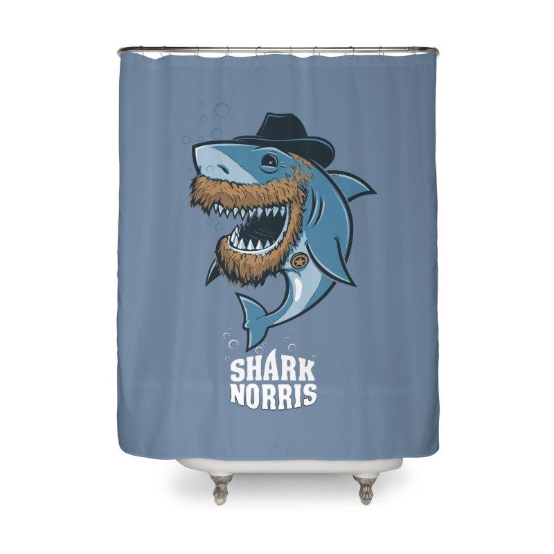 Shark Norris Home Shower Curtain by Rax's Artist Shop