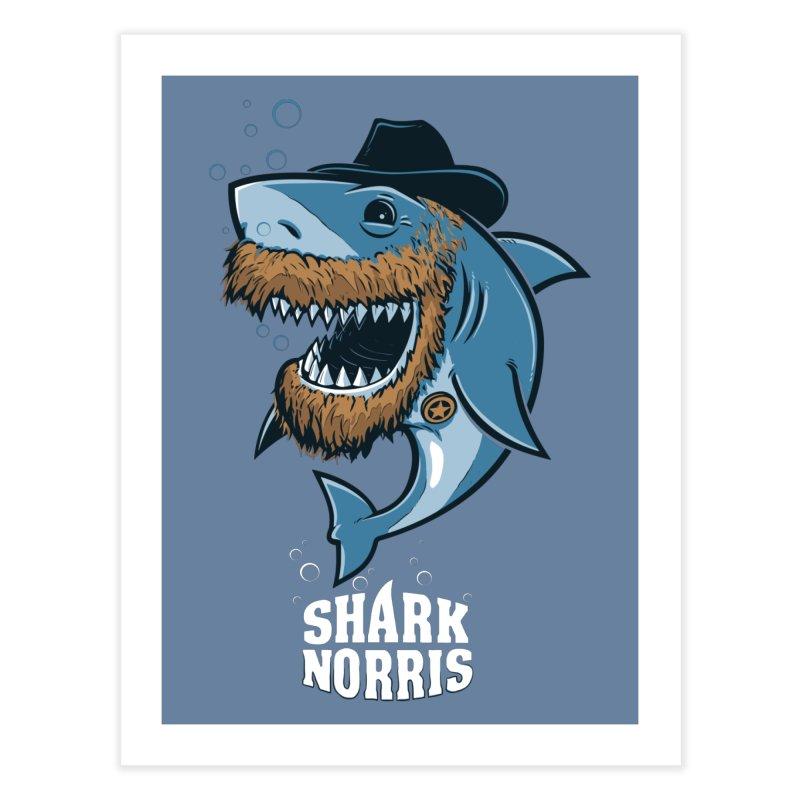 Shark Norris Home Fine Art Print by Rax's Artist Shop