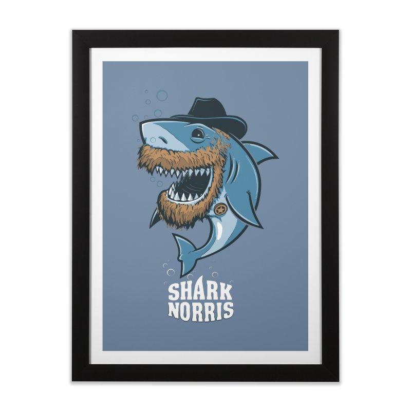 Shark Norris Home Framed Fine Art Print by Rax's Artist Shop
