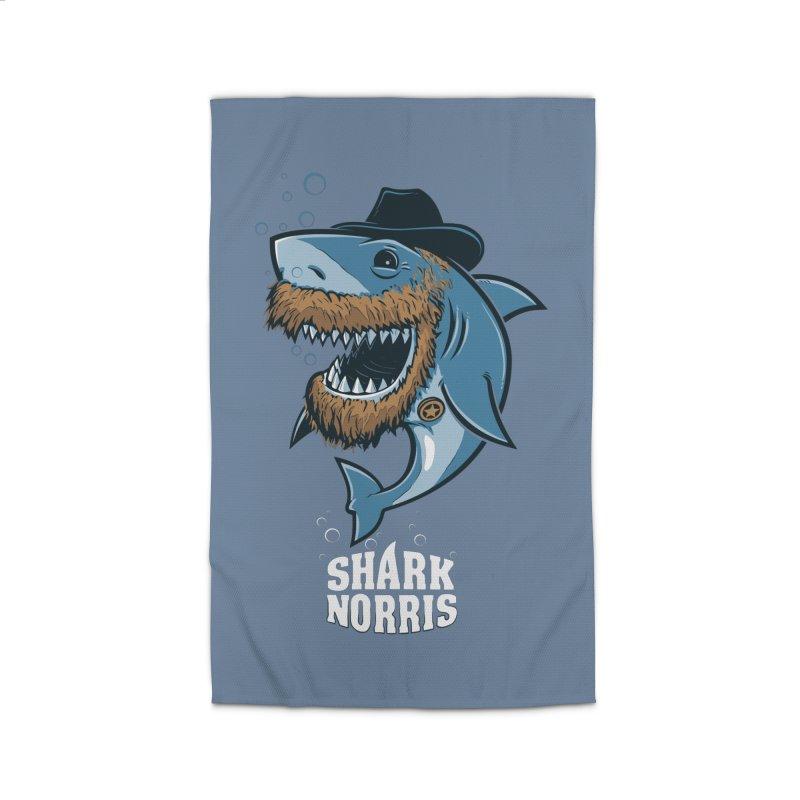 Shark Norris Home Rug by Rax's Artist Shop