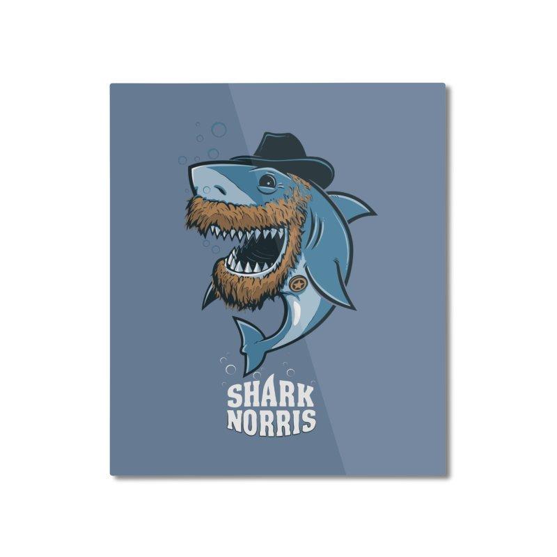 Shark Norris Home Mounted Aluminum Print by Rax's Artist Shop