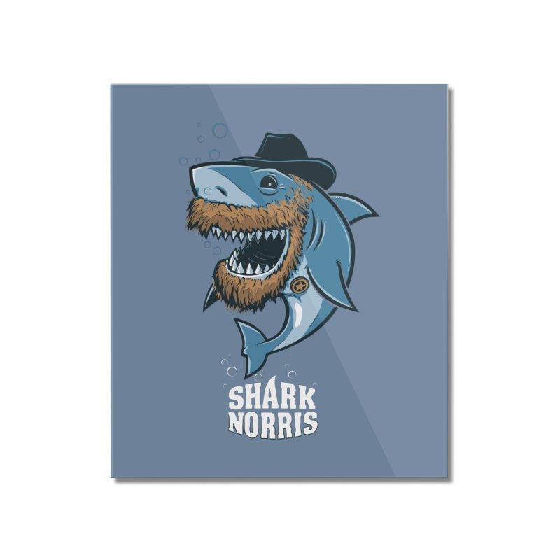 Shark Norris Home Mounted Acrylic Print by Rax's Artist Shop