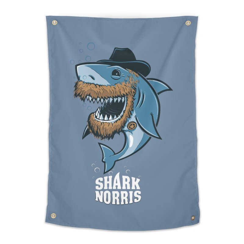 Shark Norris Home Tapestry by Rax's Artist Shop