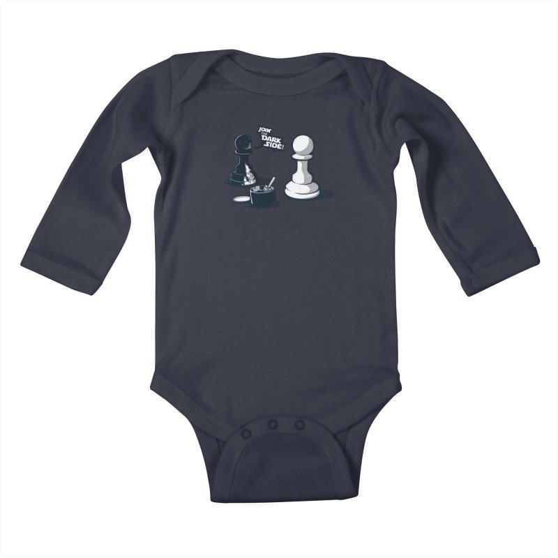 Join the dark side! Kids Baby Longsleeve Bodysuit by Rax's Artist Shop