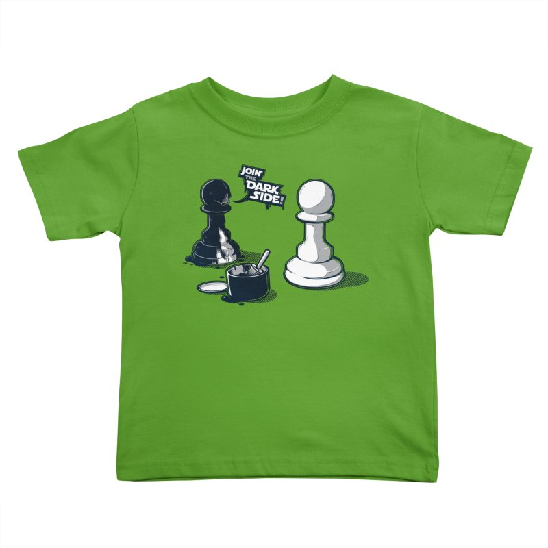 Join the dark side! Kids Toddler T-Shirt by Rax's Artist Shop
