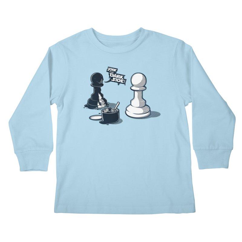 Join the dark side! Kids Longsleeve T-Shirt by Rax's Artist Shop