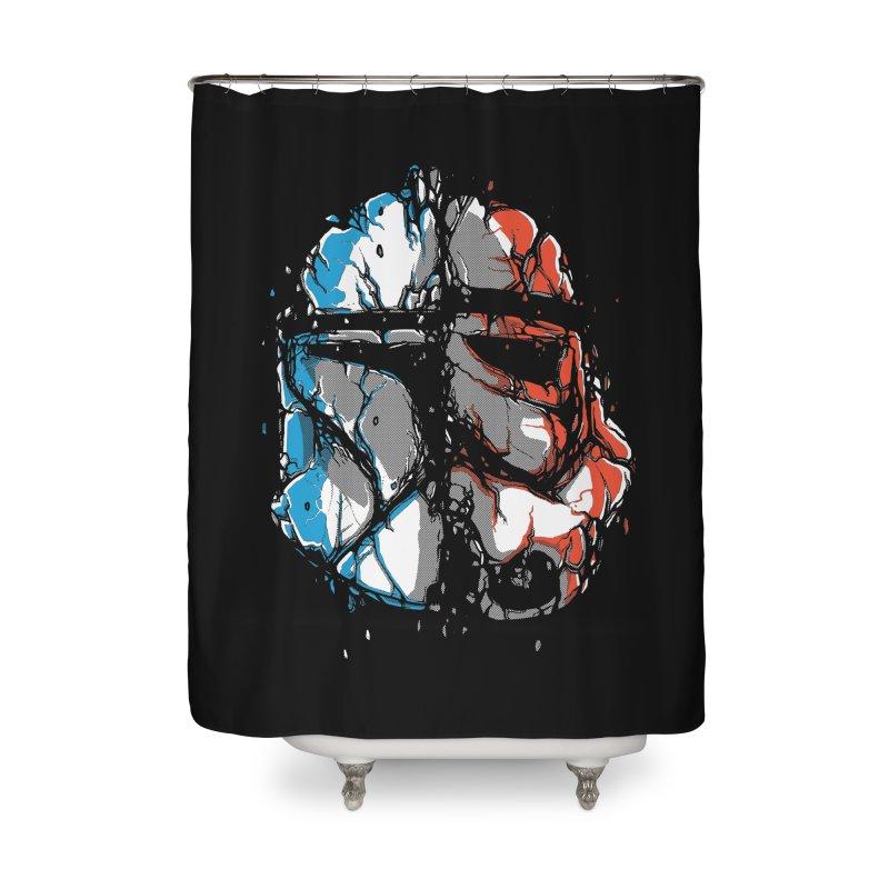 Republic vs Empire Home Shower Curtain by Rax's Artist Shop