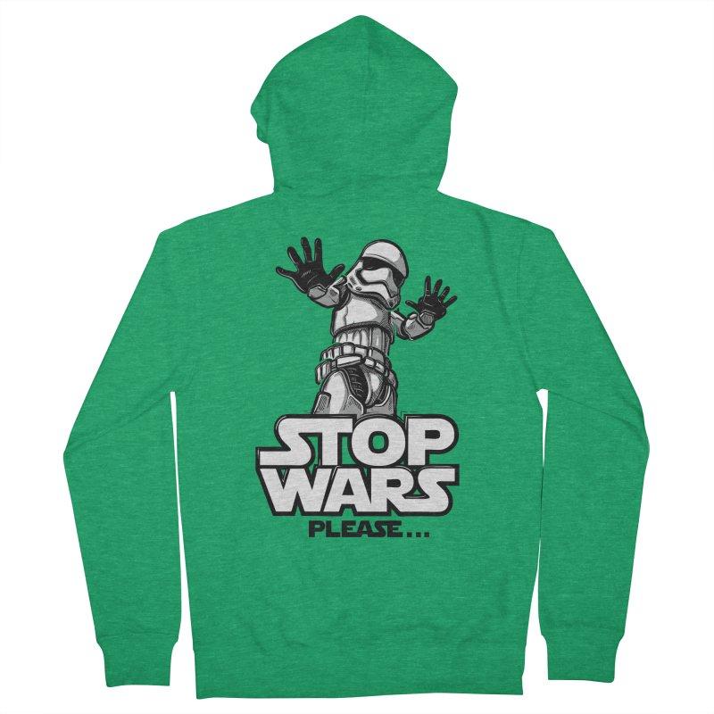 Stop wars, please! Men's Zip-Up Hoody by Rax's Artist Shop