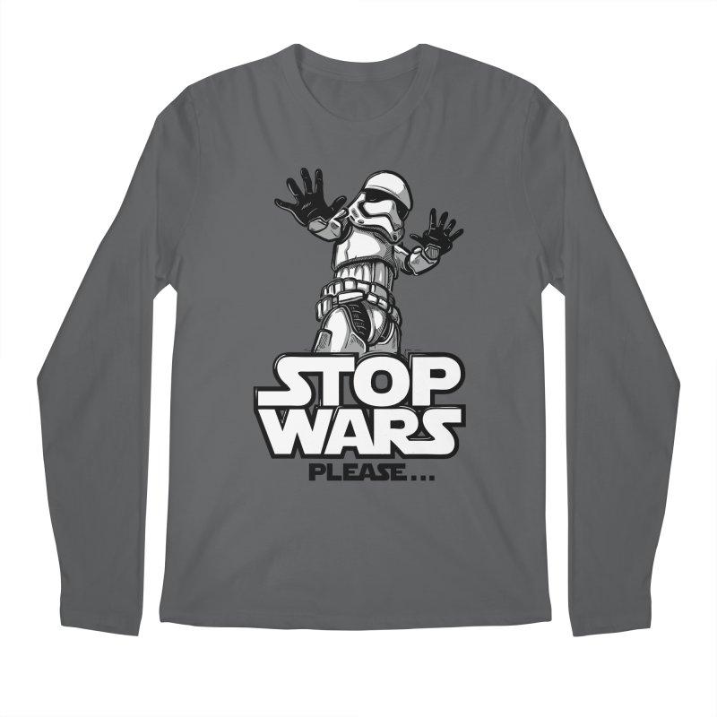 Stop wars, please! Men's Longsleeve T-Shirt by Rax's Artist Shop