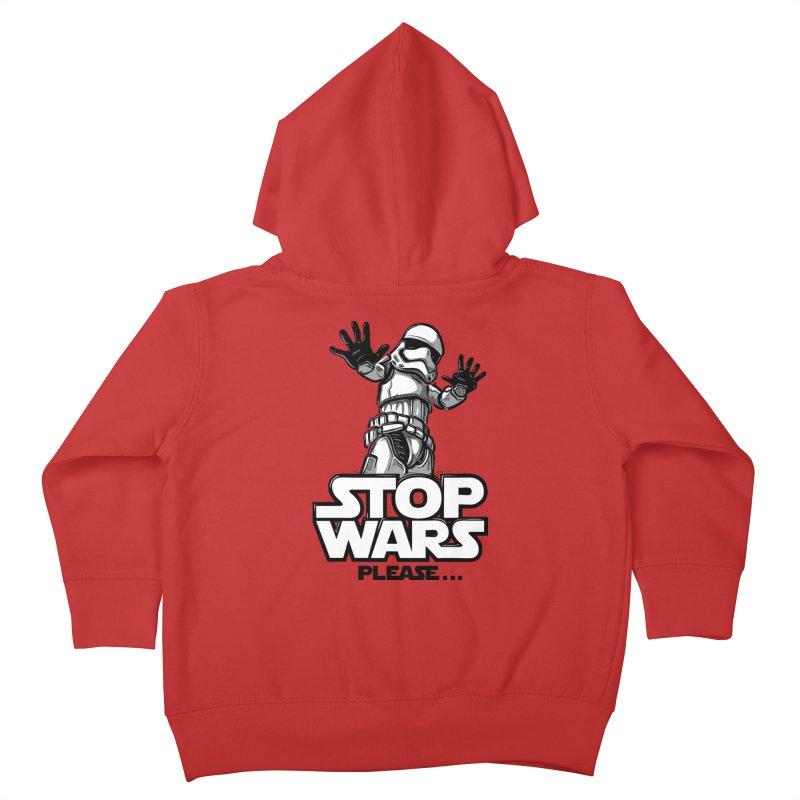 Stop wars, please! Kids Toddler Zip-Up Hoody by Rax's Artist Shop