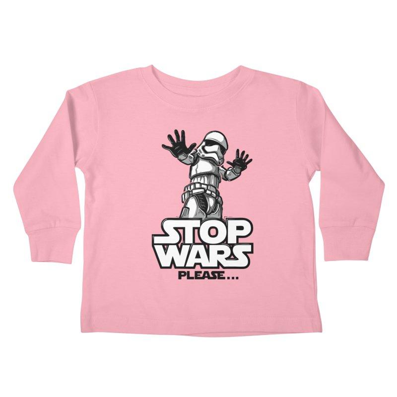 Stop wars, please! Kids Toddler Longsleeve T-Shirt by Rax's Artist Shop
