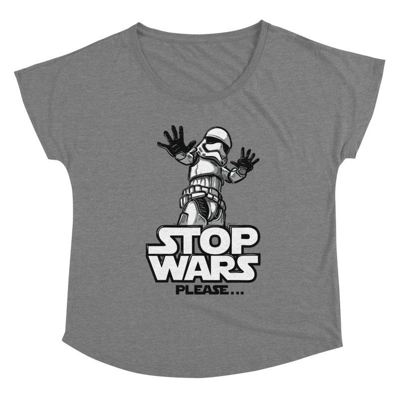 Stop wars, please! Women's Scoop Neck by Rax's Artist Shop