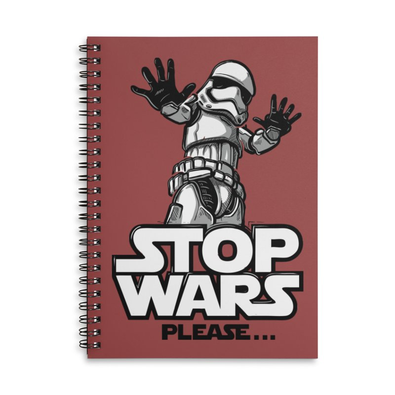Stop wars, please! Accessories Notebook by Rax's Artist Shop