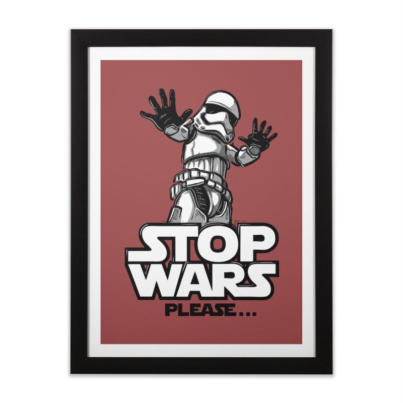 Stop wars, please! Home Framed Fine Art Print by Rax's Artist Shop