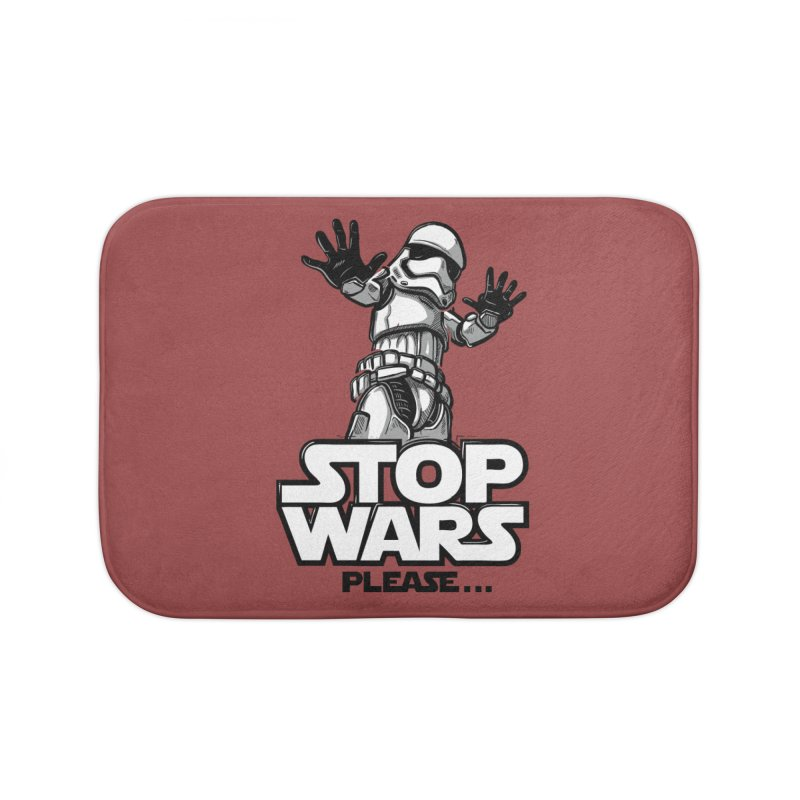 Stop wars, please! Home Bath Mat by Rax's Artist Shop