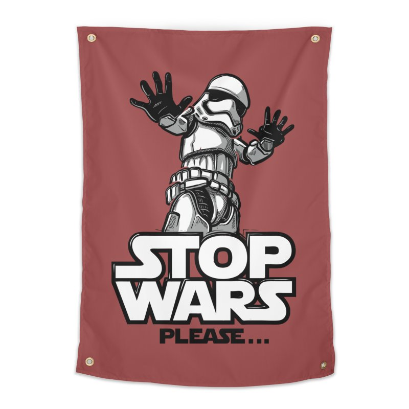 Stop wars, please! Home Tapestry by Rax's Artist Shop