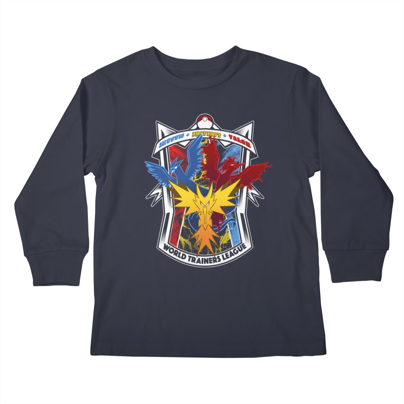 World Trainers League Kids Longsleeve T-Shirt by RazCity's Artist Shop