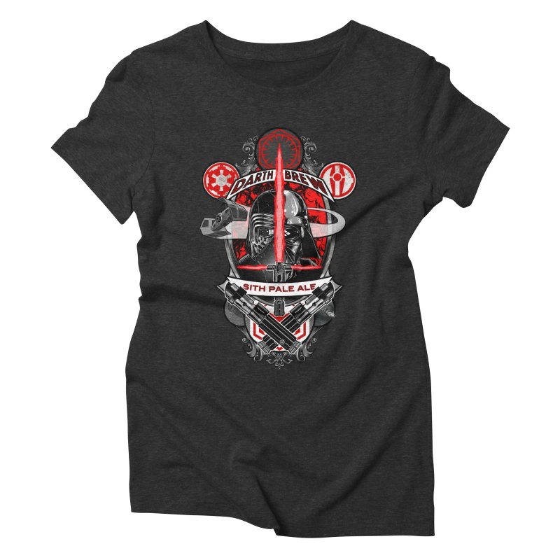 Darth Brew - Sith Pale Ale Women's Triblend T-shirt by RazCity's Artist Shop