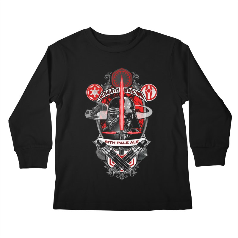 Darth Brew - Sith Pale Ale Kids Longsleeve T-Shirt by RazCity's Artist Shop