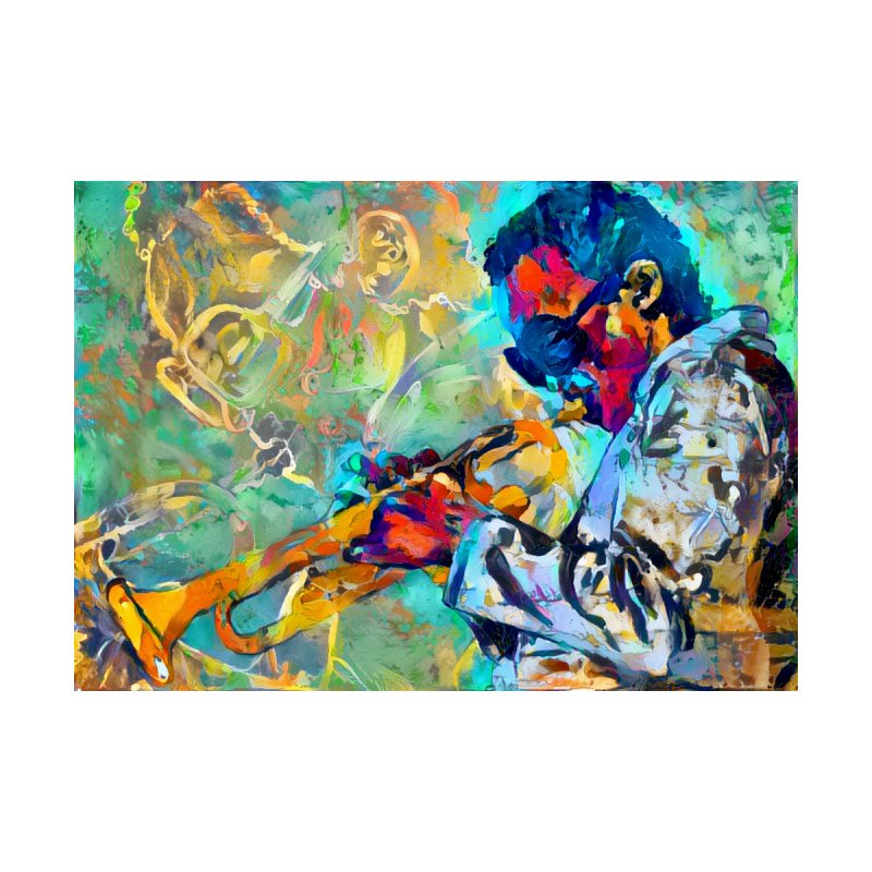 Jazz State of Mind - Colorful Impressionism Trumpetist by Realismagico's Artist Shop