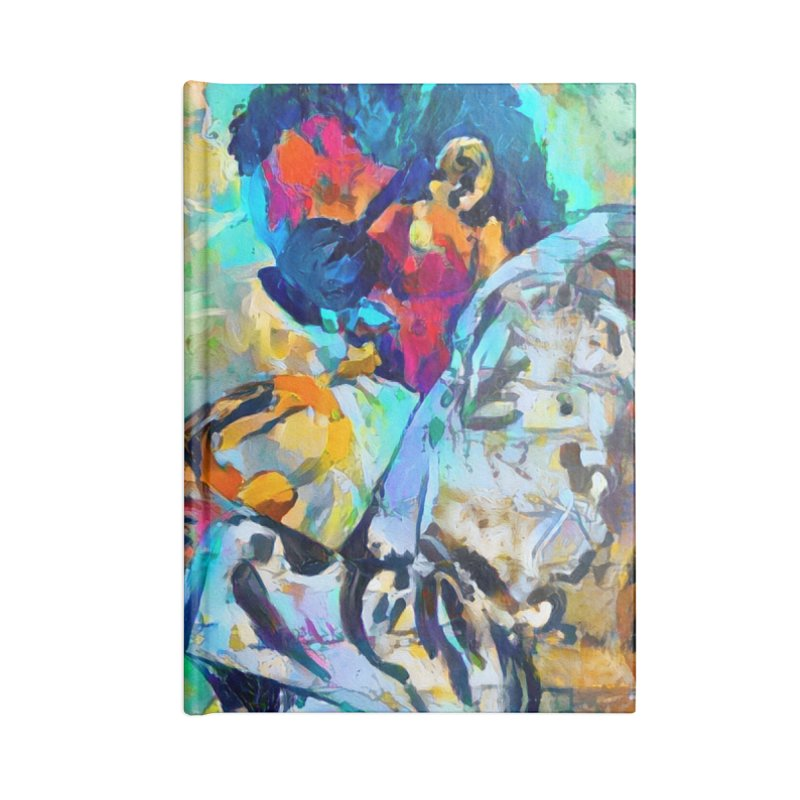 Jazz State of Mind - Colorful Impressionism Trumpetist Accessories Notebook by Realismagico's Artist Shop