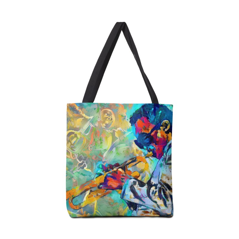 Jazz State of Mind - Colorful Impressionism Trumpetist Accessories Bag by Realismagico's Artist Shop