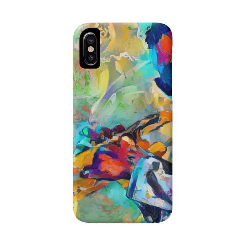 Jazz State of Mind - Colorful Impressionism Trumpetist Accessories Phone Case by Realismagico's Artist Shop