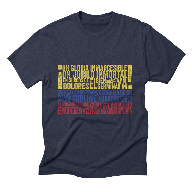 Bandera de Colombia Men's Triblend T-Shirt by Realismagico's Artist Shop