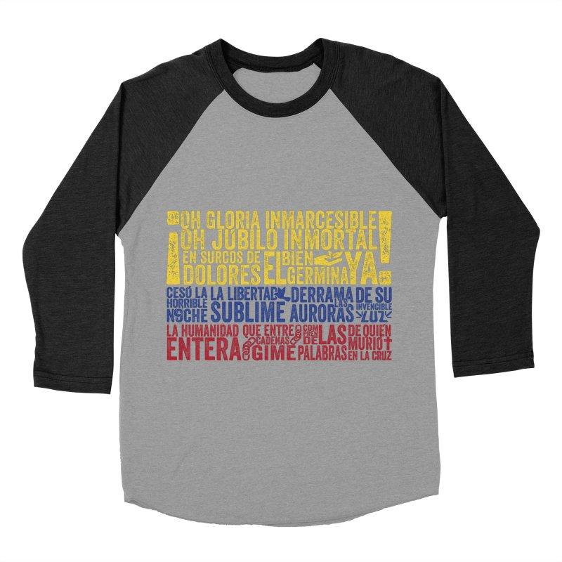 Bandera de Colombia Women's Baseball Triblend T-Shirt by Realismagico's Artist Shop