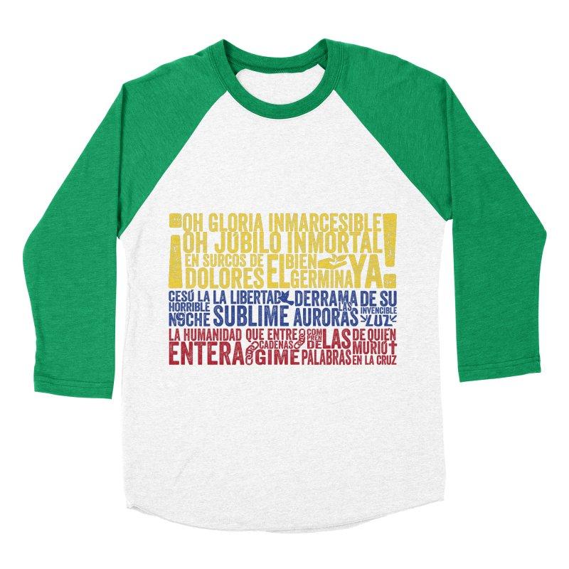 Bandera de Colombia Men's Baseball Triblend T-Shirt by Realismagico's Artist Shop