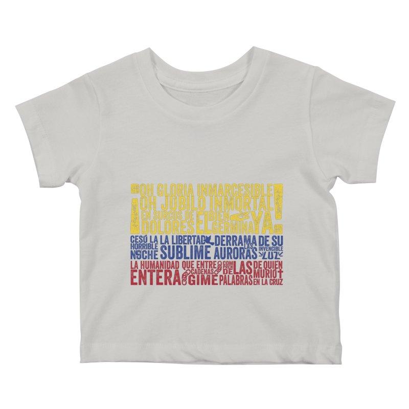 Bandera de Colombia Kids Baby T-Shirt by Realismagico's Artist Shop