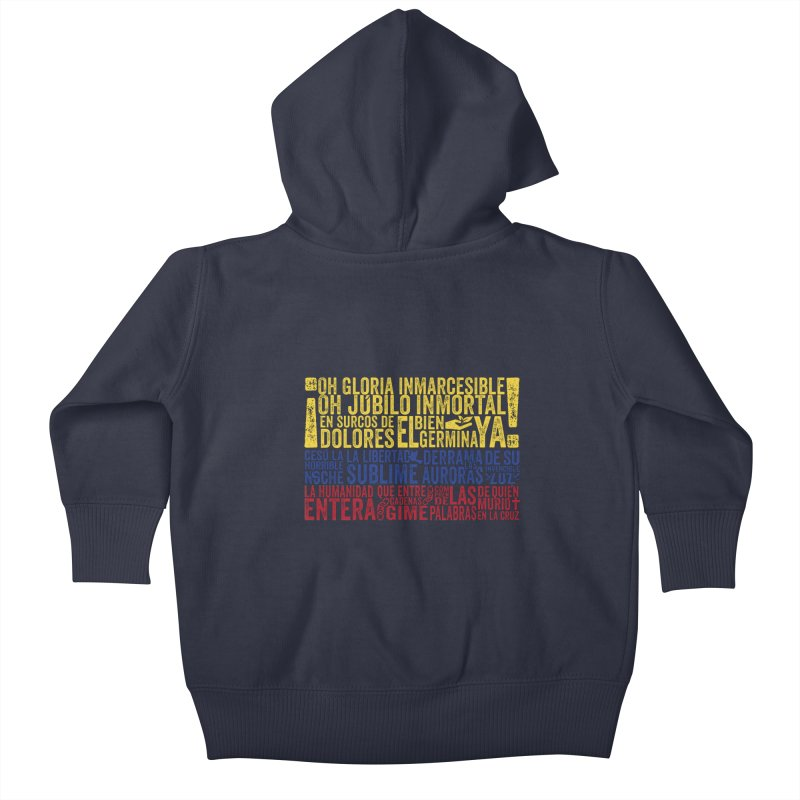 Bandera de Colombia Kids Baby Zip-Up Hoody by Realismagico's Artist Shop