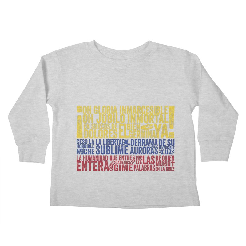 Bandera de Colombia Kids Toddler Longsleeve T-Shirt by Realismagico's Artist Shop
