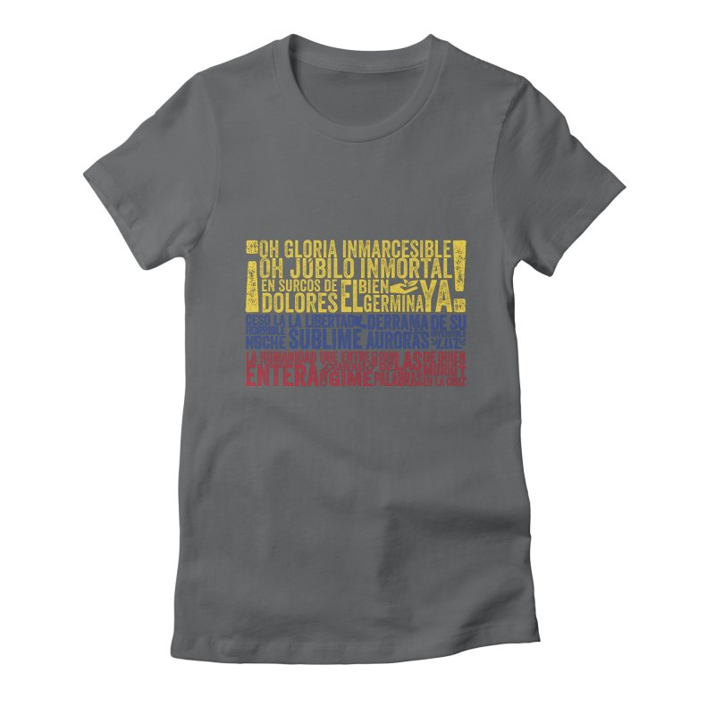 Bandera de Colombia Women's Fitted T-Shirt by Realismagico's Artist Shop