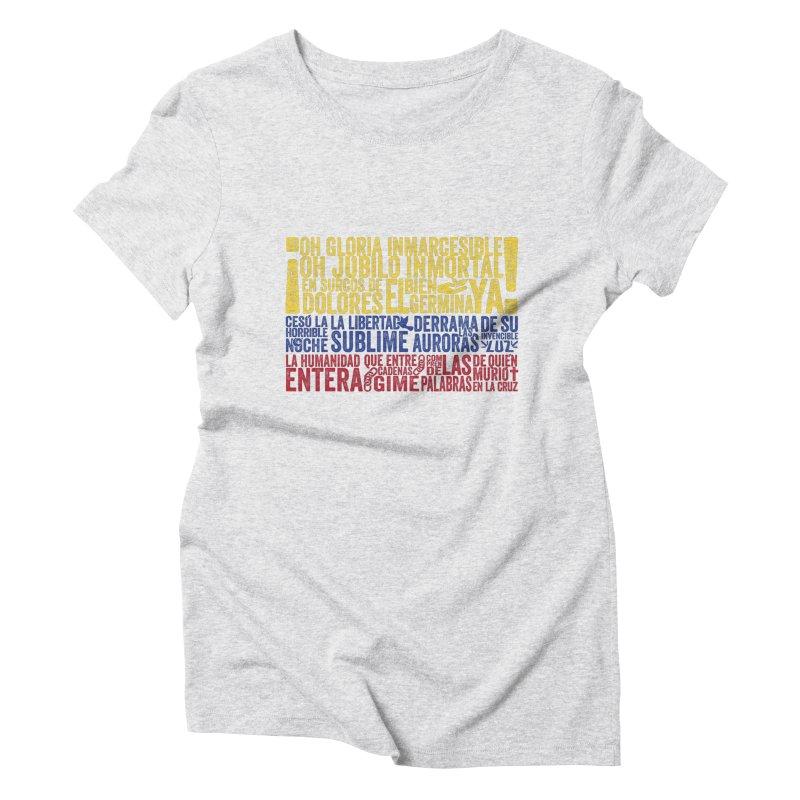 Bandera de Colombia Women's Triblend T-Shirt by Realismagico's Artist Shop