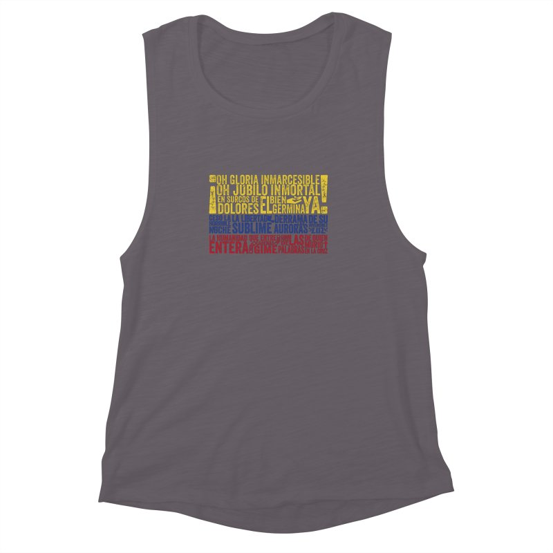 Bandera de Colombia Women's Muscle Tank by Realismagico's Artist Shop